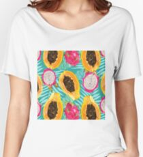 sunny fruit pattern Women's Relaxed Fit T-Shirt