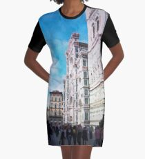 Florence watercolor painting Graphic T-Shirt Dress