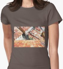 Florence watercolor painting Womens Fitted T-Shirt