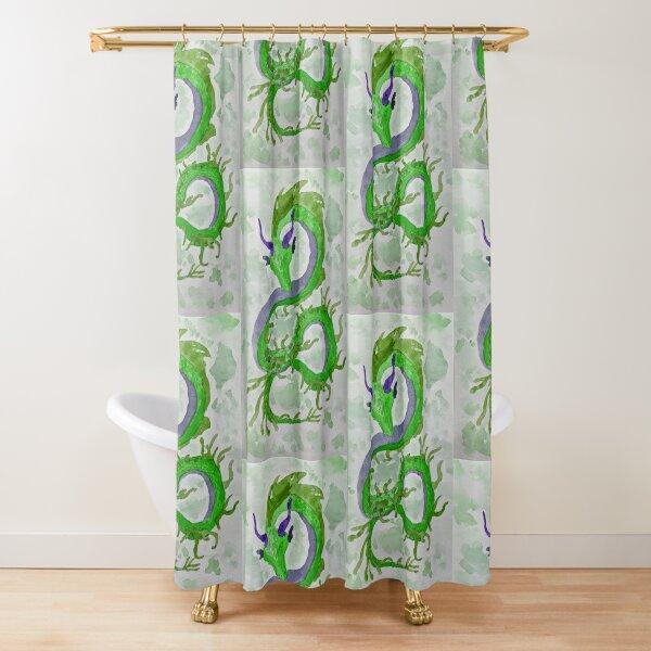 Green Weedy (Sea)Dragon Shower Curtain