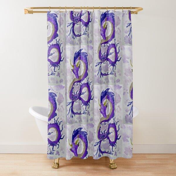 Purple Weedy (Sea)Dragon Shower Curtain