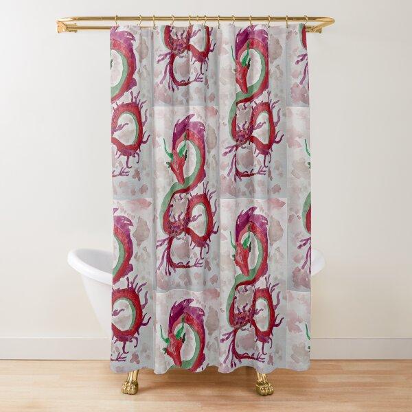 Red Weedy (Sea)Dragon Shower Curtain