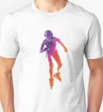 Woman in roller skates 01 in watercolor T-Shirt