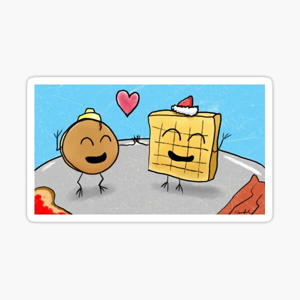Pancake and Waffle in Love - A Comedy of Breakfasts Sticker