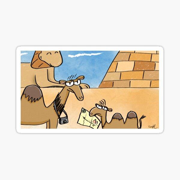 Camel Family Vacation Sticker
