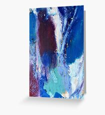 Colourful Abstract Oil Pastel Design Greeting Card