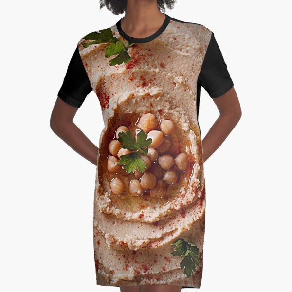 Hummus Graphic T-Shirt Dress