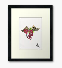Flying Hate Framed Print