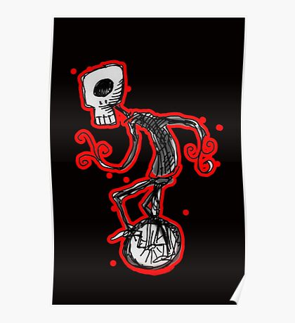 cyclops on a unicycle Poster