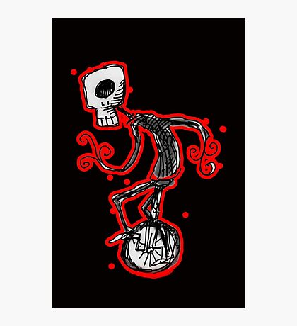 cyclops on a unicycle Photographic Print