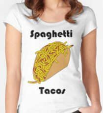 Spaghetti Taco Women's Fitted Scoop T-Shirt
