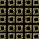Elegant Art Deco Gold Glitter Black Square Pattern by Beverly Claire Kaiya
