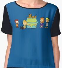 Shaggy Brown and The Scooby Crew  Women's Chiffon Top