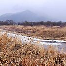 River and Mountains in Winter by koreanrooftop