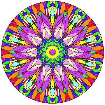 Colourful Flower Mandala by SynicalShirts