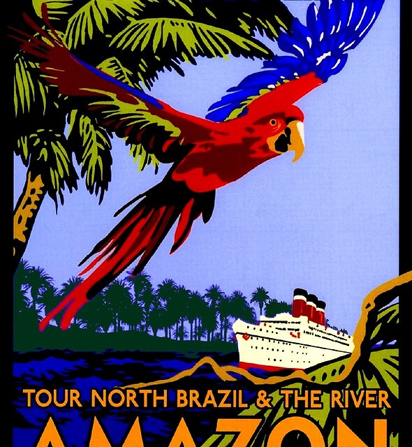 """AMAZON BRAZIL RIVER"" Vintage Cruise Print by posterbobs"