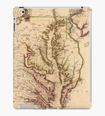 Vintage Map of The Chesapeake Bay (1719) iPad Case/Skin