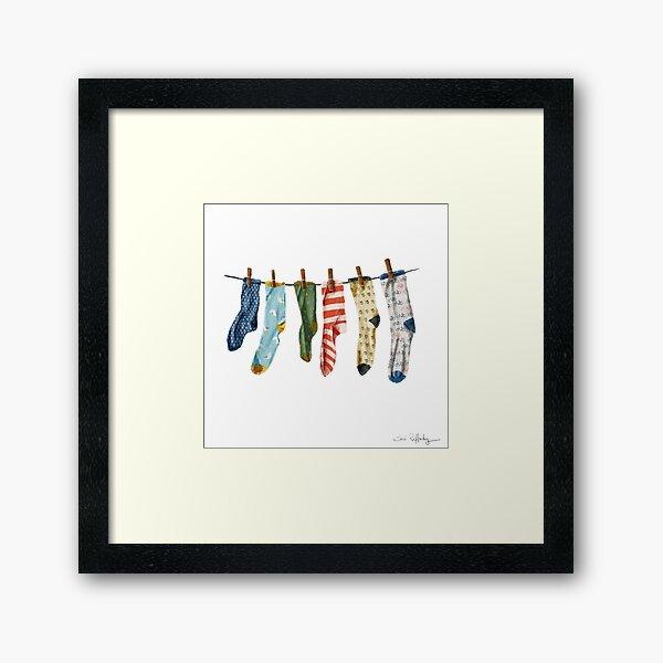 I like Him. He Has Nice Socks. Framed Art Print