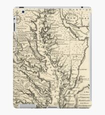 Vintage Map of The Chesapeake Bay (1752) iPad Case/Skin