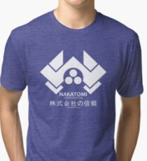 NAKATOMI PLAZA - DIE HARD BRUCE WILLIS (WHITE) Tri-blend T-Shirt