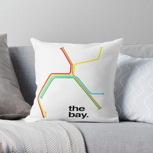 the bay. Throw Pillow