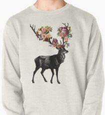 Frühling selbst Deer Floral Pullover