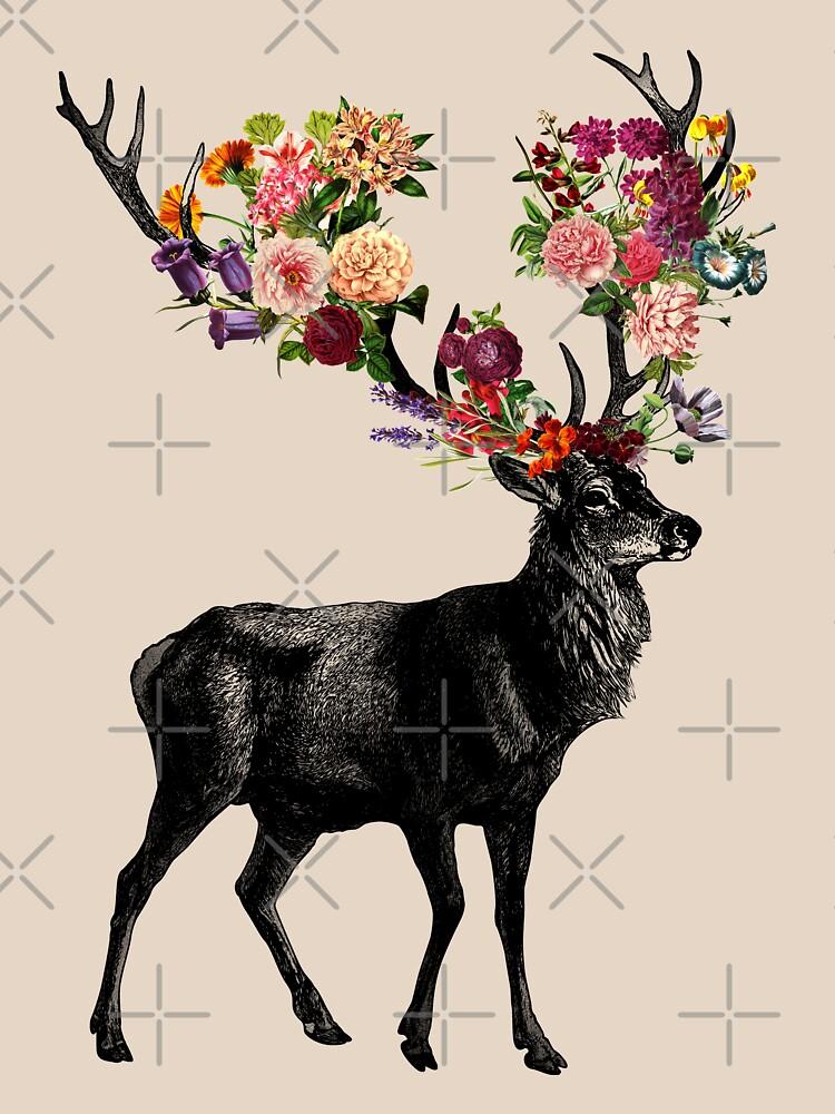 Spring Itself Deer Floral by tobiasfonseca
