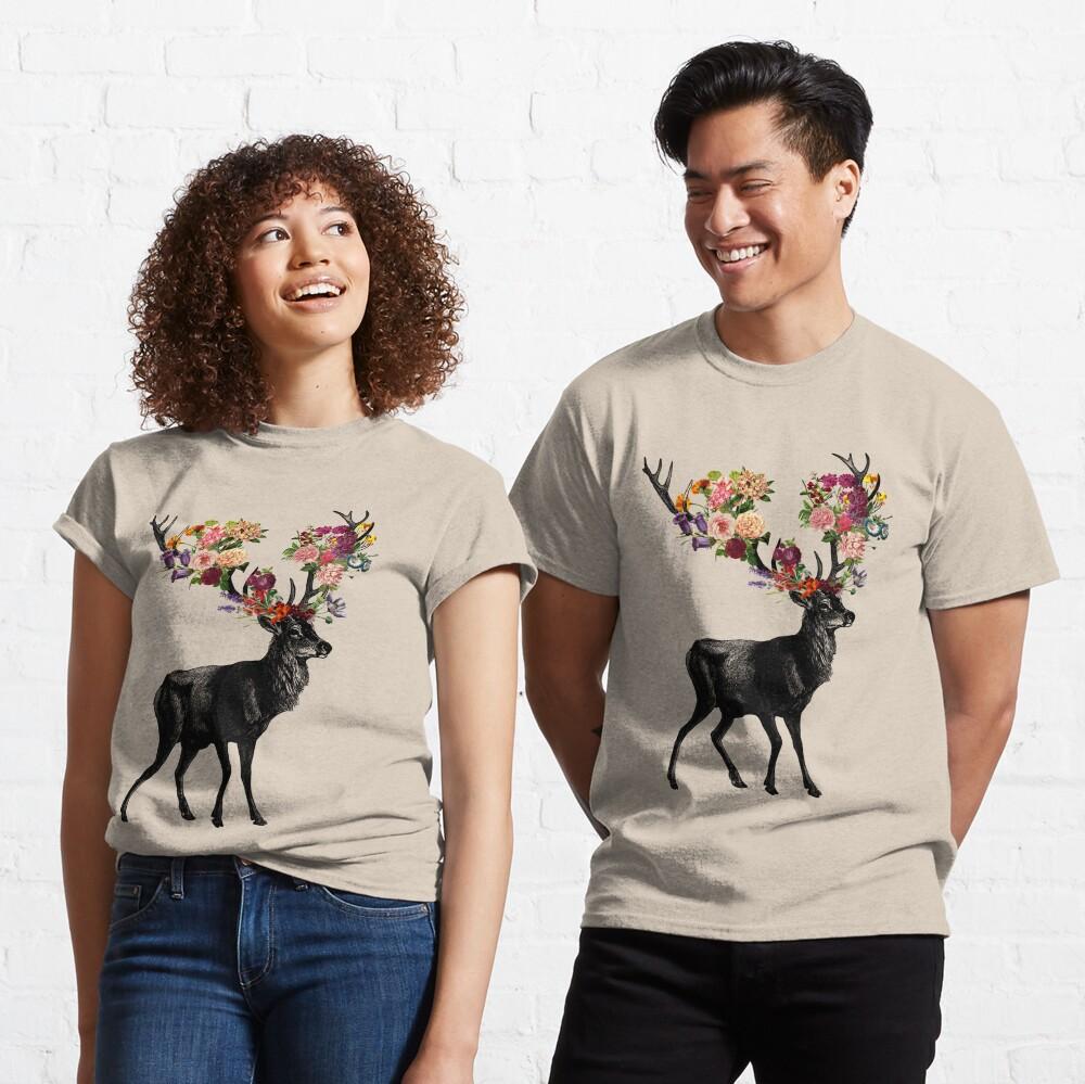 Spring Itself Deer Floral Classic T-Shirt