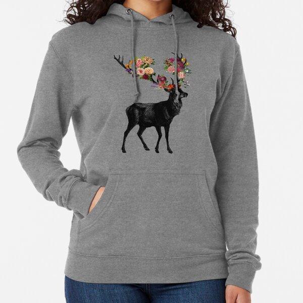 Spring Itself Deer Floral Lightweight Hoodie