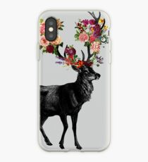 Spring Itself Deer Floral iPhone Case