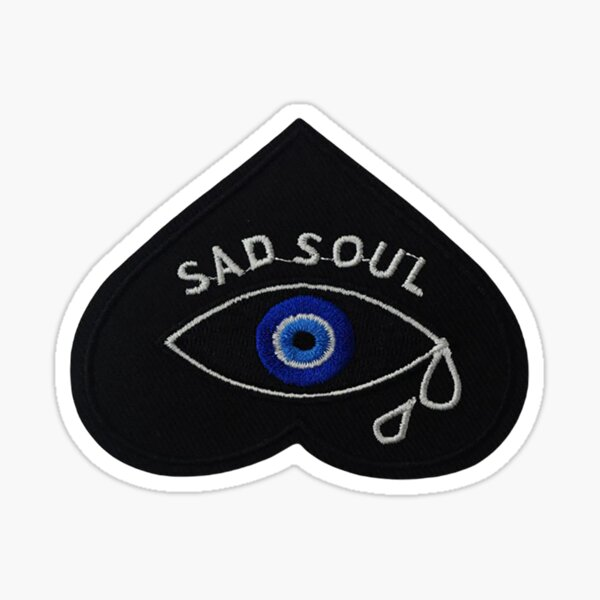 Sad Soul Patch   Embroidered Patches   Iron On Patch   Iron On Embroidered Patch Sticker