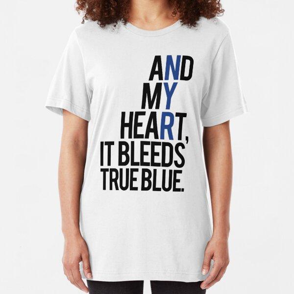true blue (white) Slim Fit T-Shirt