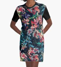 The night of the Snakes Graphic T-Shirt Dress