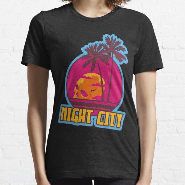 Crane de la ville de nuit Cyberpunk 2077  Essential T-Shirt