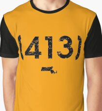 Area Code 413 Massachusetts Graphic T-Shirt