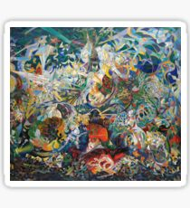 Abstract painting by Joseph Stella Sticker