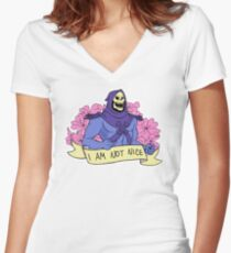I AM NOT NICE Women's Fitted V-Neck T-Shirt