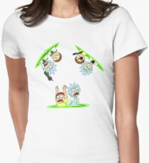 Rick and Morty vs Rick and Morty Women's Fitted T-Shirt