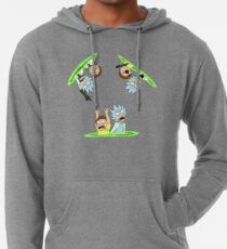 52b1f3a67cfb Rick and Morty vs Rick and Morty Lightweight Hoodie