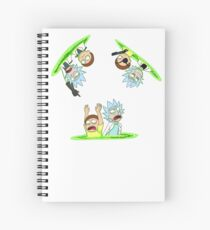Rick and Morty vs Rick and Morty Spiral Notebook