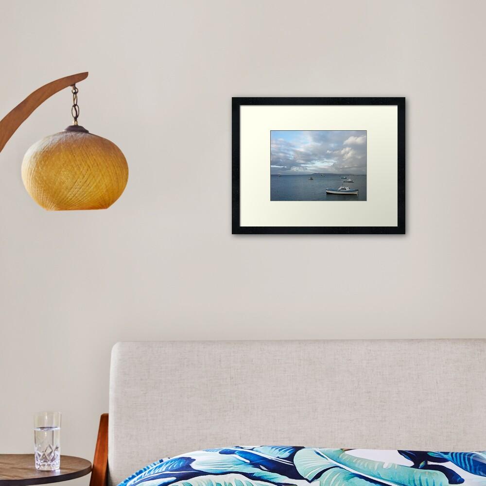 Boats on the Bay, Sorrento Framed Art Print