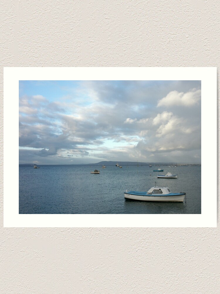 Alternate view of Boats on the Bay, Sorrento Art Print