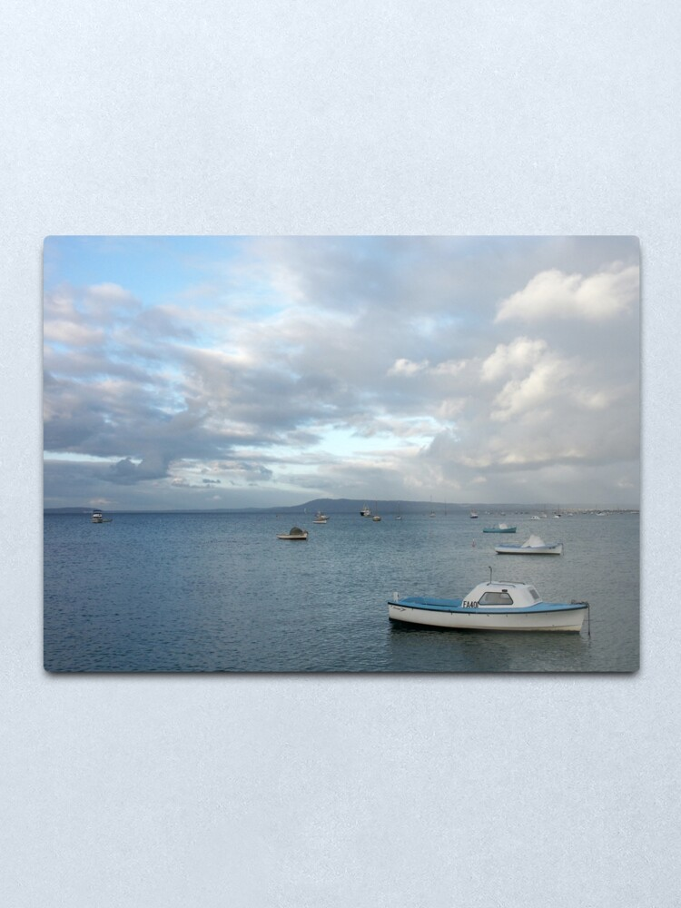 Alternate view of Boats on the Bay, Sorrento Metal Print