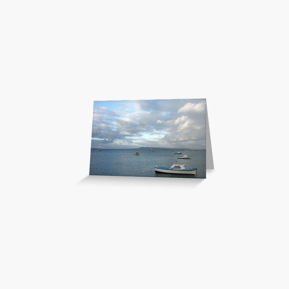 Boats on the Bay, Sorrento Greeting Card