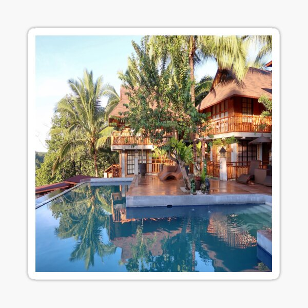 Swimming pool with Nature Sticker
