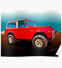 Ford Bronco Classic from VivaChas Hot Rod Art Poster