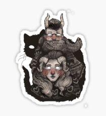 Poncho Monster Sticker
