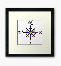 Compass 578 Framed Print