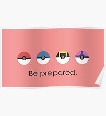 Pokemon Pokeball Be Prepared Poster