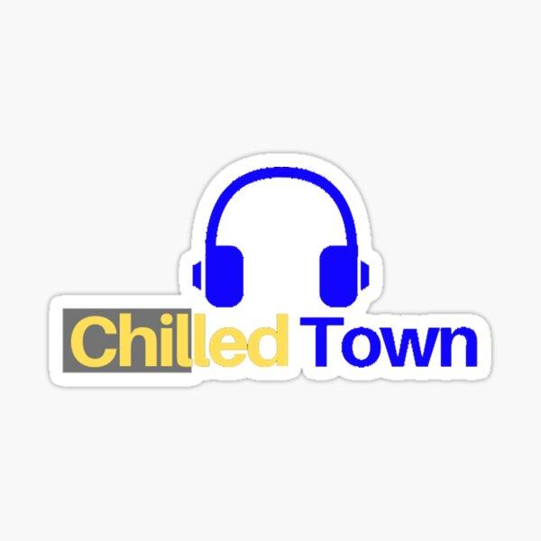 Chilled Town - Head Set White  Sticker